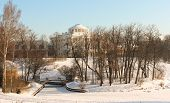stock photo of winter palace  - Pavlovsk Palace at Winter - JPG