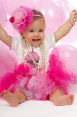 foto of headband  - Birthday baby one year old - JPG