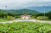 stock photo of royal botanic gardens  - Traditional thai architecture in the Lanna style Royal Pavilion  - JPG