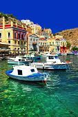 colorful Greece series Symi island, Dodecanes