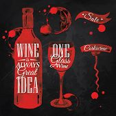 ������, ������: Pointer drawn pour wine chalk