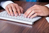 stock photo of qwerty  - Close - JPG