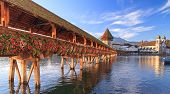 stock photo of early morning  - Lucerne Switzerland early morning - JPG