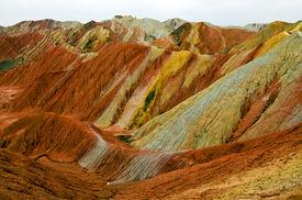 pic of landforms  - Zhangye Danxia landform located in Linze County - JPG
