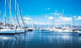 foto of sailing vessels  - Sailboat harbor - JPG