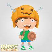 pic of berserk  - halloween boy pumpkin helmet warrior freak party - JPG