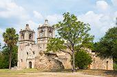 image of 1700s  - Exterior Spanish Hispanic Mission Concepcion - JPG
