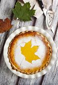foto of pumpkin pie  - Homemade Tradition Pumpkin Pie - JPG