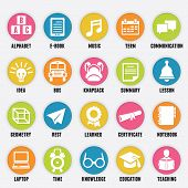 picture of knapsack  - Set of education icons  - JPG