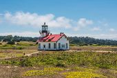 stock photo of mendocino  - A view of the lighthouse of Fort Bragg - JPG