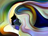 stock photo of human beings  - Colors of the Mind series - JPG
