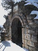 stock photo of grotto  - Lermontovs Grotto - JPG