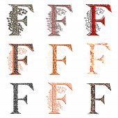 image of fishnet  - Set of variations fishnet  - JPG