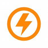 foto of lightning bolts  - Lightning bolt sign isolated on white background - JPG