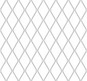 stock photo of dash  - Black and white geometric seamless pattern with dashed line - JPG