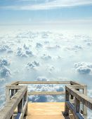 pic of gazebo  - Illustration of gazebos which hovers in the clouds  - JPG