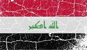 stock photo of iraq  - Flag of Iraq with old texture - JPG