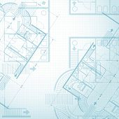 stock photo of engineering construction  - Architectural plan background - JPG