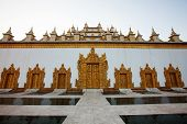 foto of sag  - beautiful White Temple in Mandalay Myanmar  - JPG