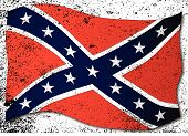 stock photo of confederation  - The flag of the confederates during the American Civil War - JPG