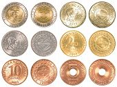 picture of pesos  - philippines peso coins collection set isolated on white background - JPG