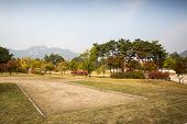 stock photo of seoul south korea  - Gyeongbokgung Palace and its grounds on a fine autumn day in Seoul, South Korea.