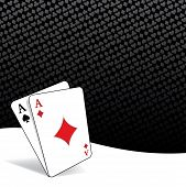 stock photo of ace spades  - Poker background with two aces - JPG
