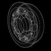 pic of ball bearing  - steel ball roller bearings - JPG