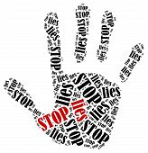 stock photo of tell lies  - Stop lies - JPG