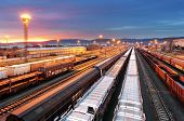 stock photo of railroad yard  - Train freight  - JPG