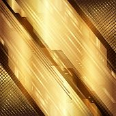 stock photo of gold  - Gold technical background - JPG