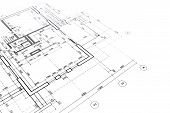 image of architecture  - part of architectural project engineering and architecture drawings - JPG