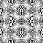 pic of diagonal lines  - Design seamless monochrome waving pattern - JPG