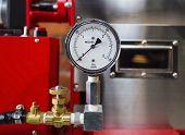 pic of air pressure gauge  - Pressure gauge Meter installed Measuring Tool equipment - JPG