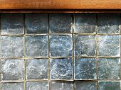 foto of mother-of-pearl  - A Capiz Mother of Pearl Window Surface Detail - JPG