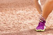 picture of ankle shoes  - Running sport injury  - JPG