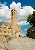 pic of yellow castle  - Public monument of Poppi Castle in Tuscany Italy - JPG