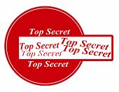 foto of top-secret  - Rubber stamp with text top secret inside vector illustration - JPG