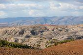 foto of algeria  - rural landscape with clouds - JPG