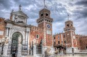 foto of arsenal  - The Arsenal fortress in HDR Venice Italy - JPG
