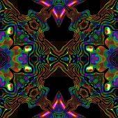 stock photo of viking  - Abstract seamless colorful metallic viking like pattern - JPG