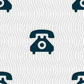 picture of rotary dial telephone  - retro telephone handset icon sign - JPG