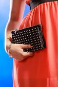 stock photo of clutch  - Fashion elegant evening outfit - JPG