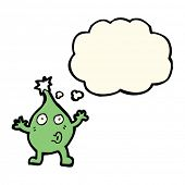 picture of creatures  - funny cartoon creature with thought bubble - JPG