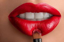 picture of lip  - Beautiful lips close - JPG