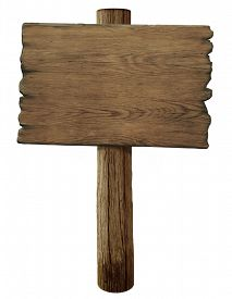 foto of sign-boards  - blank old wood road sign isolated  - JPG