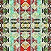 Постер, плакат: Коренных американцев традиционный орнамент племенных Дизайн фона