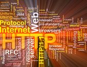 stock photo of box-end  - Software package box Word cloud concept illustration of web HTTP - JPG