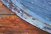 Weathered Wooden Boat poster