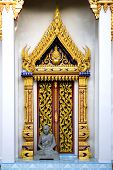 Thai Buddhist Temple Door